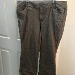 Lane Bryant Khaki-Green Bootcut Pants Sz 22 Avg